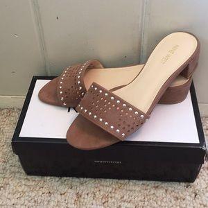 Nine West brown suede sandals